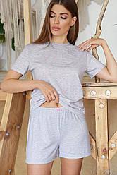 Серая женская пижама Джой-1