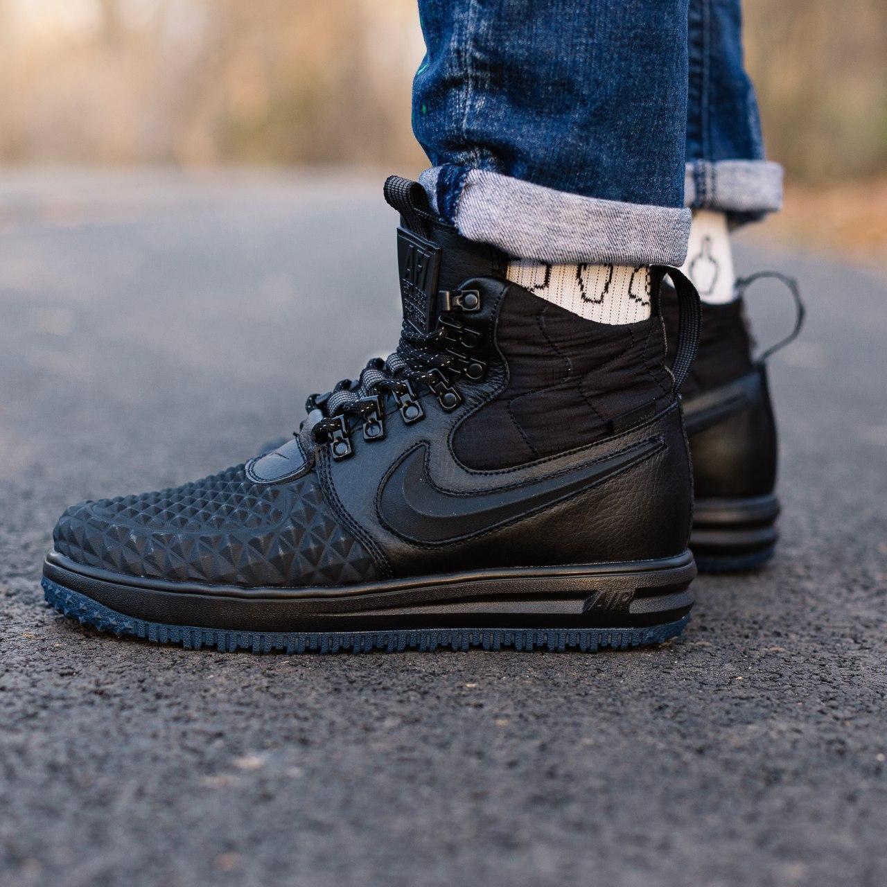 Кроссовки мужские Nike Lunar Force 1 Duckboot 17 black (Реплика ААА)