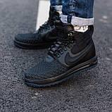 Кроссовки мужские Nike Lunar Force 1 Duckboot 17 black (Реплика ААА), фото 3
