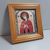 Б/У Икона фотопринт в деревянной рамке 13х15 см