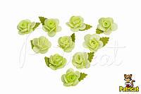 """Цветок """"Кувшинка"""" 1,5 см Лайм из фоамирана (латекса) 10 шт/уп"""