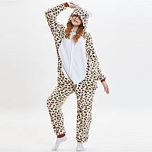 Пижамы кигуруми для взрослых с Леопардовым медведем пижама комбинезон