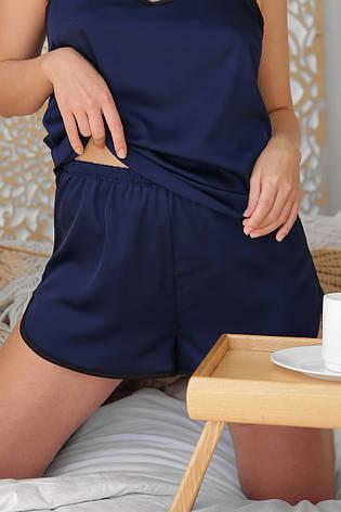 Синие женские шорты для сна Шелби, фото 2
