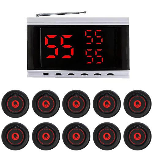 Система вызова официанта RECS №139   кнопки вызова официанта 10 шт + приемник вызовов