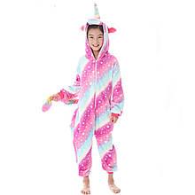 Пижама кигуруми розовая Единорог для девочек р.120