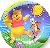 """Тарелки детские, праздничные """"Винни Пух"""" одноразовая посуда"""