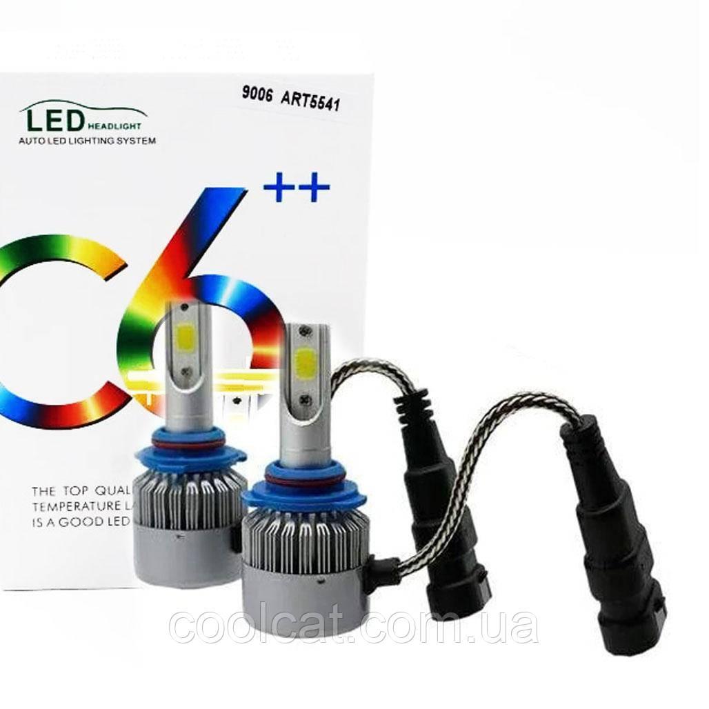 Комплект LED ламп C6 в туманки HB4/9006 / Светодиодные лампы