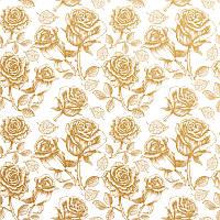 """Упаковочная бумага  для подарков с фольгой  """" Золотые розы """" 707х1000 мм"""