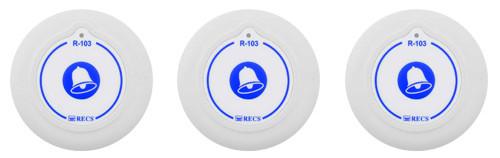 Фото: кнопки виклику персоналу RECS R-103 - 3 штук - комплект системи виклику RECS №140