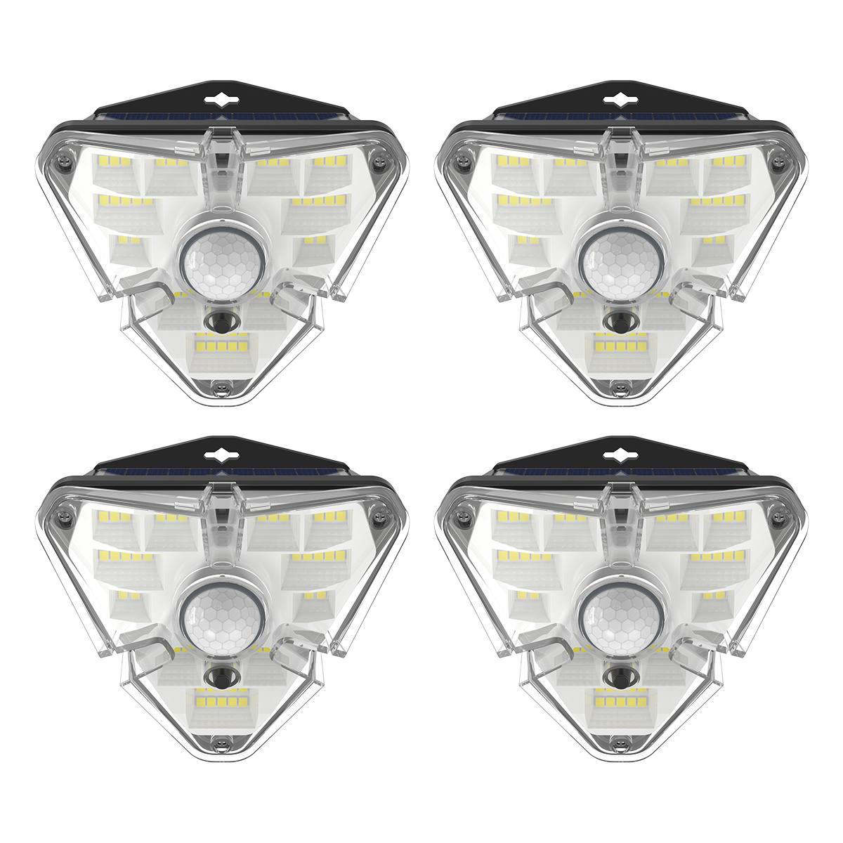 Лампа наружная индукционная (комплект 4 шт.) BASEUS Solar Energy Lamp 4 IPX5, с 1200mAH (DGNEN-B01)