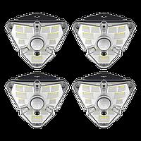 Лампа наружная индукционная (комплект 4 шт.) BASEUS Solar Energy Lamp 4 IPX5, с 1200mAH (DGNEN-B01), фото 1