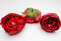 Тканевая головка Пиона 8 см красно-розовая