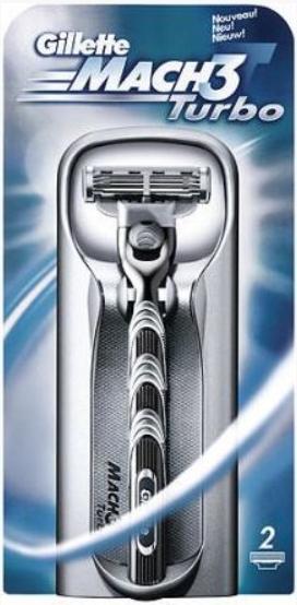 Бритвенный станок Gillette Mach 3 Turbo + 2 картриджа