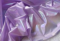 Органза с напылением, 20*30 см, сиренево-голубая