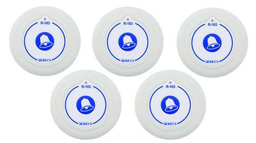 Фото: кнопки вызова персонала RECS R-103 - 5 штук - комплект системы вызова RECS №141