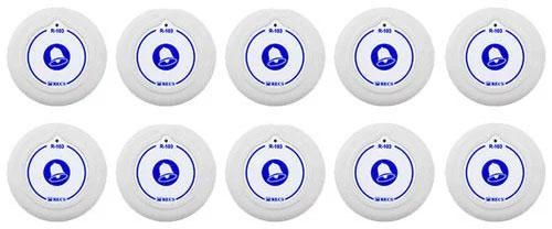 Фото: кнопки виклику персоналу RECS R-103 - 10 штук - комплект системи виклику RECS №142