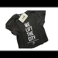 Футболка Gymshark Manchester Cropped T-Shirt Джимшарк (black) S