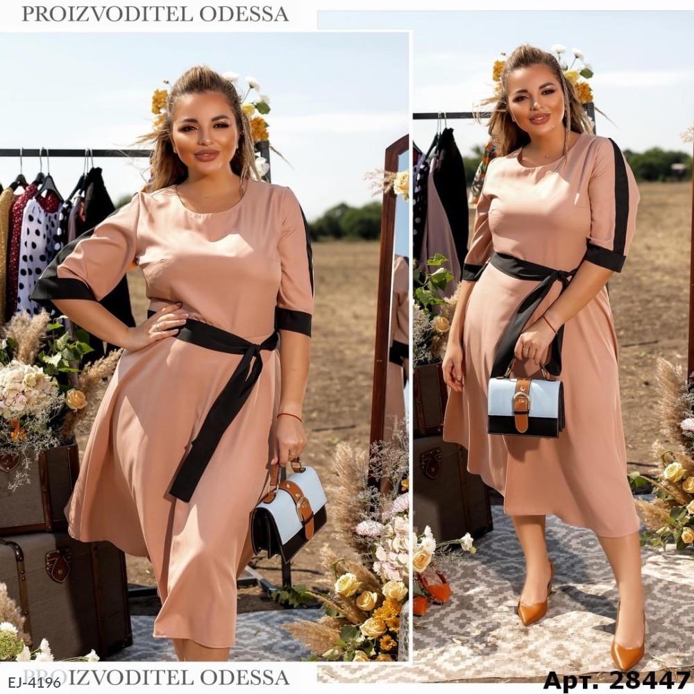 Стильное платье    (размеры 50-56) 0255-12
