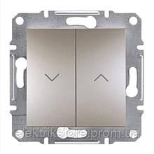 Вимикач для жалюзі Schneider-Electric Asfora Plus Бронза
