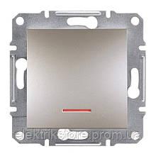 Кнопка з підсвічуванням Schneider-Electric Asfora Plus Бронза