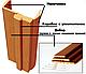 Доборная планка ПП Премиум 250*10*2060 Белый матовый, фото 2