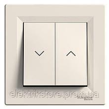 Выключатель для жалюзи Schneider-Electric Asfora Кремовый