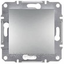 Выключатель 1-клавишный 2П Schneider-Electric Asfora Plus Алюминий