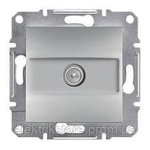 Розетка TV (8 дБ) проходная Schneider-Electric Asfora Алюминий