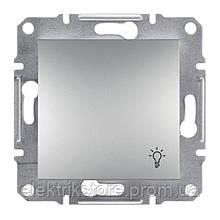 "Кнопка ""свет"" Schneider-Electric Asfora Plus Алюминий"