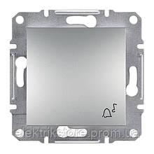 "Кнопка ""звонок"" Schneider-Electric Asfora Plus Алюминий"