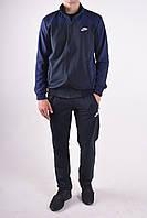 Размеры: M, 2Xl. Мужской спортивный костюм. Трикотаж двунитка - темно синий
