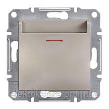 Вимикач картковий Schneider-Electric Asfora Plus Бронза