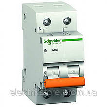 Автоматичний вимикач Schneider Домовик ВА63 1P+N, 25A C
