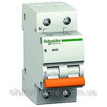 Автоматичний вимикач Schneider Домовик ВА63 1P+N 63A C