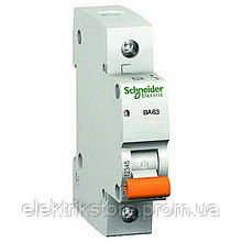 Автоматический выключатель Schneider Домовой ВА63 1P 63А C