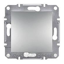 Выключатель кнопка Schneider-Electric Asfora Plus Алюминий