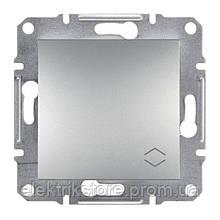 Переключатель 1-клавишный проходной Schneider-Electric Asfora Plus Алюминий