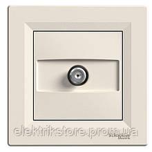 Розетка SAT концевая (1 дБ) Schneider-Electric Asfora Кремовый