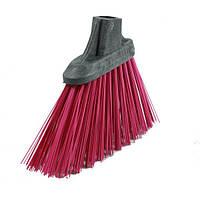 Щетка для чистки пола уличная косая BSV малиновая 26 см