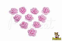 """Цветок розовый """"Кувшинка"""" 1,5 см из фоамирана (латекса) 10 шт/уп"""