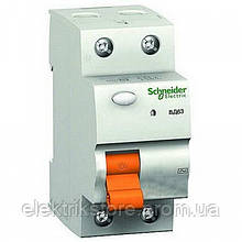 Диференціальне реле Schneider-Electric Домовик ВД63 2P 25A 300МА