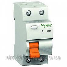 Диференціальне реле Schneider-Electric Домовик ВД63 2P 16A 10МА