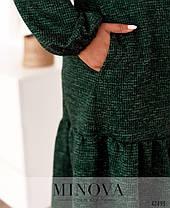 Модное женское платье А-силуэта с воланом по подолу с 48 по 64 размер в 4-х цветах, фото 2