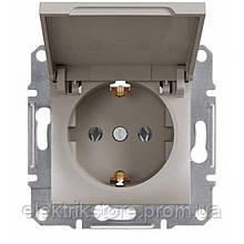 Розетка з з/к і кришкою Schneider-Electric Asfora Plus Бронза