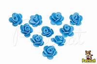 "Цветок голубой ""Кувшинка"" 1,5 см из фоамирана (латекса) 10 шт/уп"