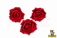 Роза красная из фоамирана (латекса) 4,5 см 10 шт/уп