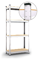 150х70х30, Стеллаж 4 полок ДВП, 100 кг/полка, 5010 полочный оцинкованный на склад балкон подвал БЕЗ УСИЛЕНИЯ