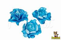 Цветок Гвоздика 7 см Голубая из Фоамирана (Латекса) 1 шт