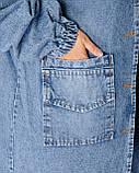 Кардиган джинсовый женский 52, 54, 56, фото 4