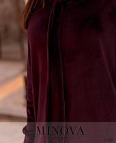 Модное молодёжное платье из велюра с 50 по 64 размер в 4-х цветах, фото 2